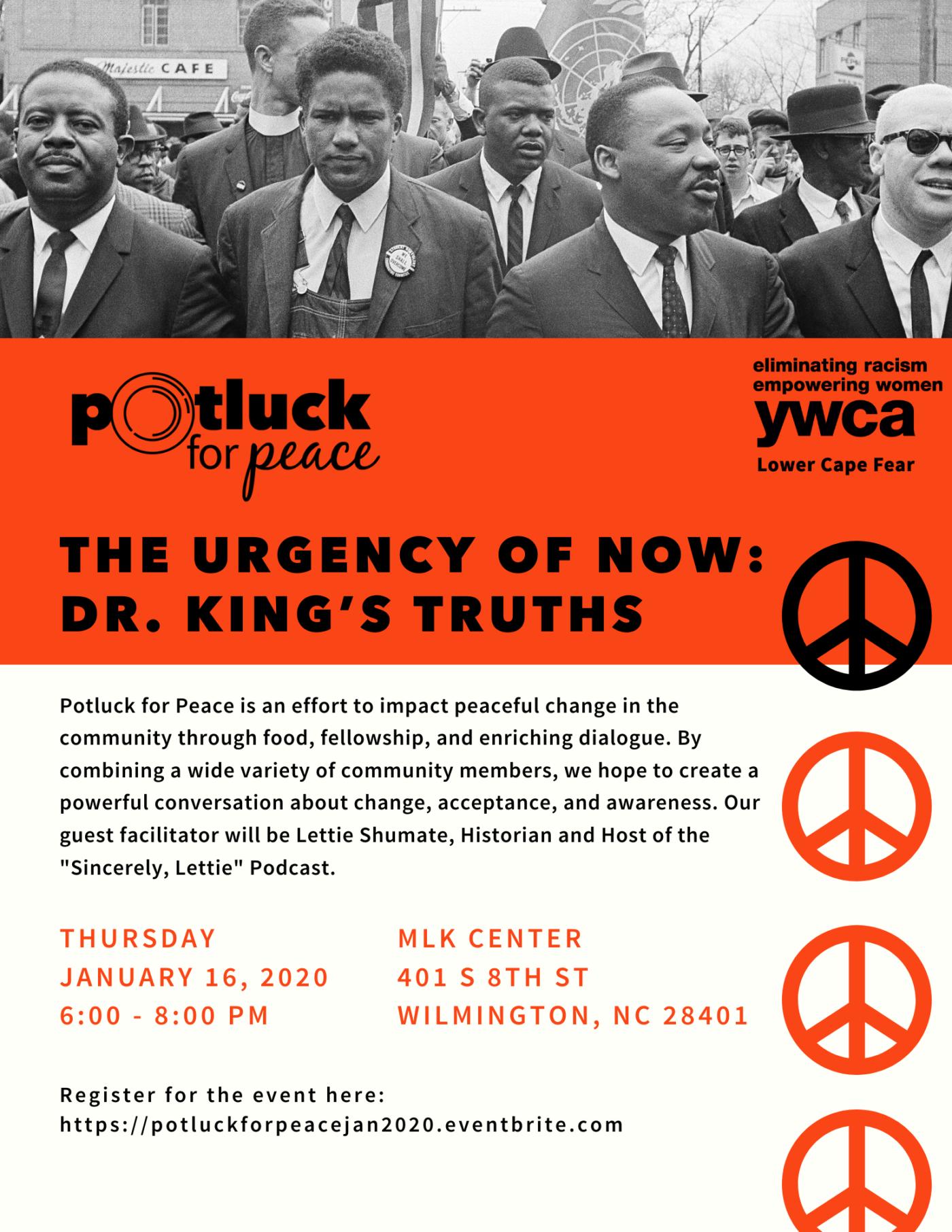 MLK Potluck for Peace